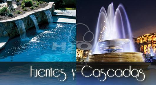Fuentes y cascadas for Apartamentos con piscina propia
